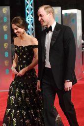 Kate Middleton on Red Carpet at BAFTA Awards in London, UK 2/12/ 2017