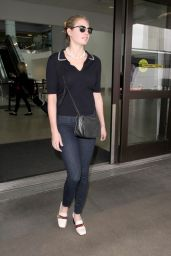 Kate Upton in Tight Jeans at LAX in LA 2/10/ 2017