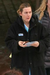 Kate Winslet - Finishes Shooting Interiors at Eagle Ridge Hospital in Port Moody, Canada 2/7/ 2017