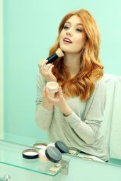 Katherine McNamara - Touches Up With Her Must-Have BareMinerals Original Foundation 1/31/ 2017