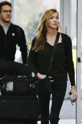 Katie Cassidy at Vancouver International Airport 2/16/ 2017