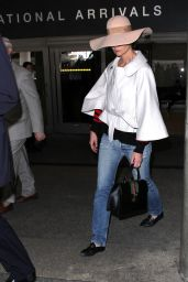Katie Holmes - Rocking a Massive Hat at LAX in Los Angeles 2/24/ 2017