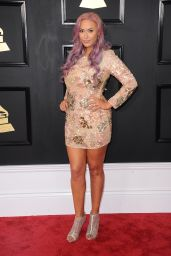 Kaya Jones on Red Carpet – GRAMMY Awards in Los Angeles 2/12/ 2017