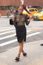 Keke Palmer at AOL Building in NYC 2/1/ 2017