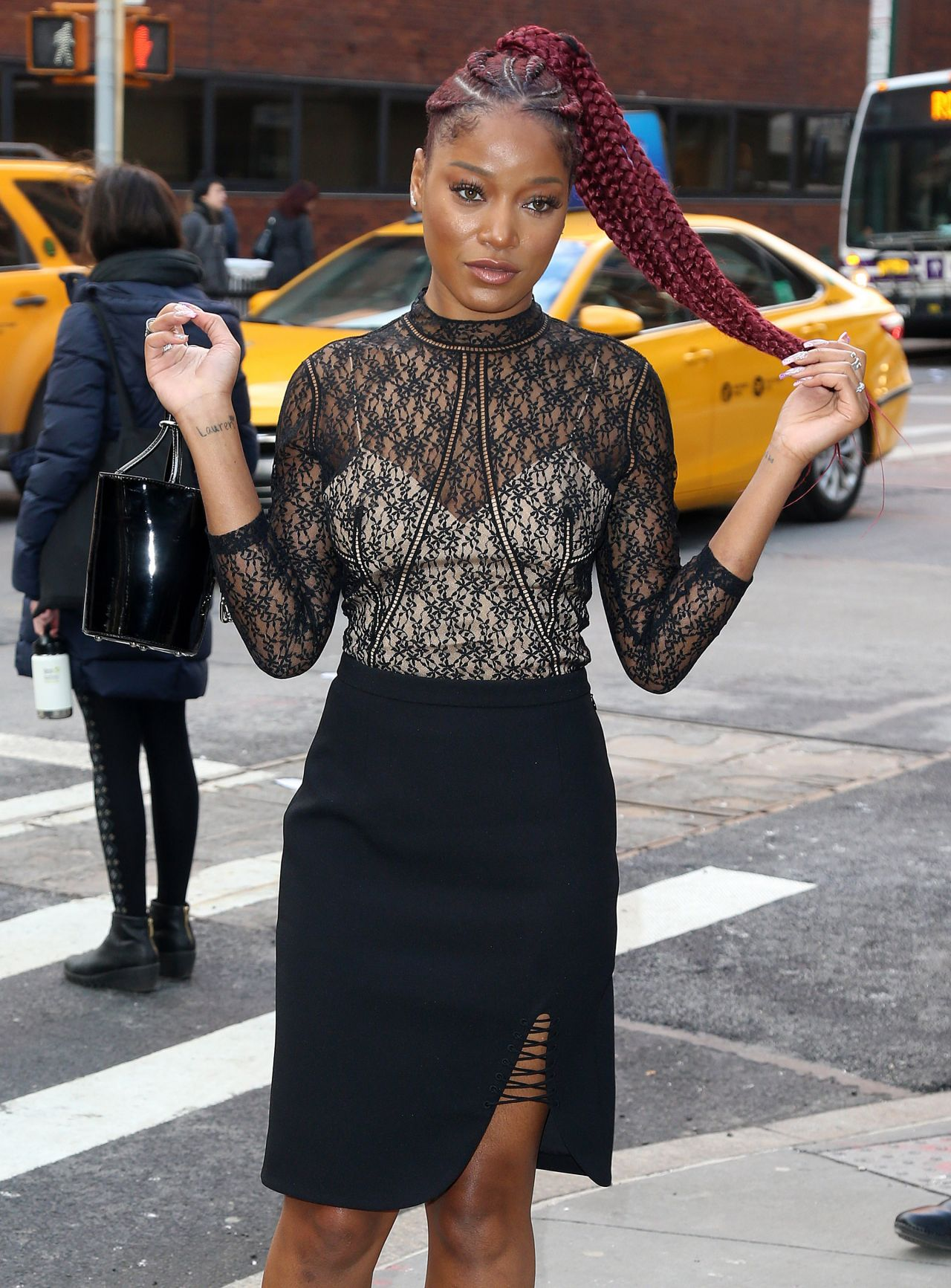 Keke Palmer at AOL Building in NYC 2/1/ 2017Keke Palmer Rolling Out