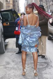Keke Palmer in a Metallic Dress at Wendy Williams Show in New York City 1/31/ 2017