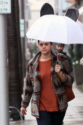 Kelen Coleman - Gets Caught in The Rain in Beverly Hills 2/7/ 2017
