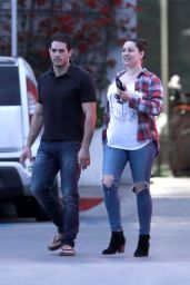 Kelly Brook in Ripped Jeans - Out in Los Angeles 2/21/ 2017