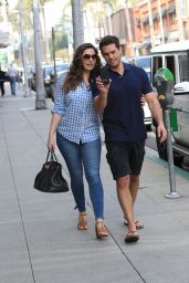 Kelly Brook With Her Boyfriend - Beverly Hills 2/16/ 2017