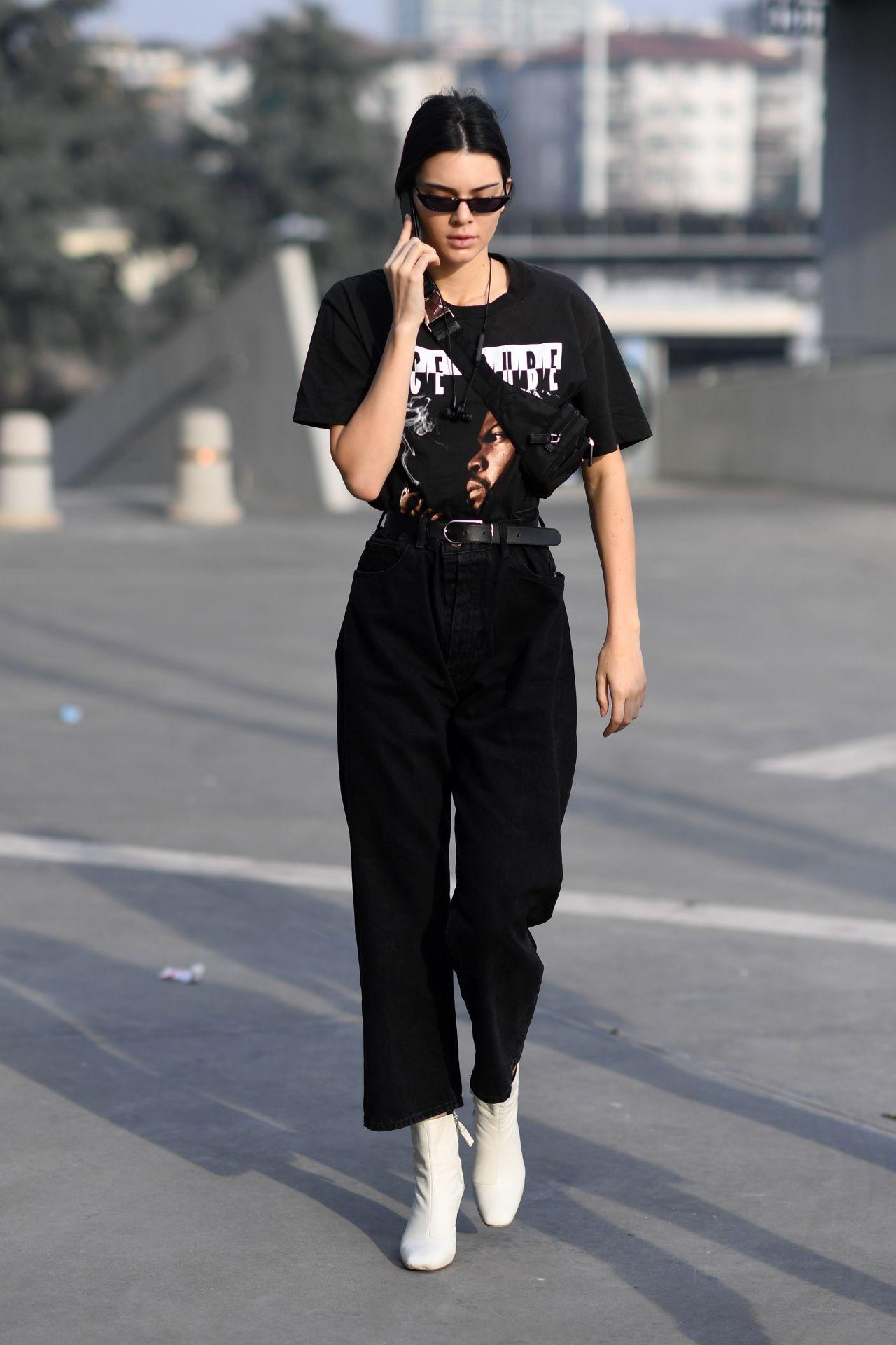 Kendall Jenner At Milan Fashion Week Arrives At Versace Show 2 24 2017