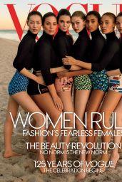 Kendall Jenner, Gigi Hadid, Ashley Graham, Liu Wen, Adriana Lima - Vogue (US) March 2017
