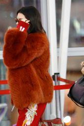 Kendall Jenner & Hailey Baldwin - Catch a Flight Out of New York 2/17/ 2017