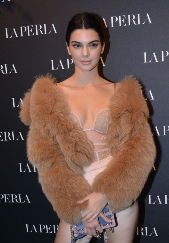 Kendall Jenner - La Perla Show Room Opening, Milan, Italy 2/23/ 2017