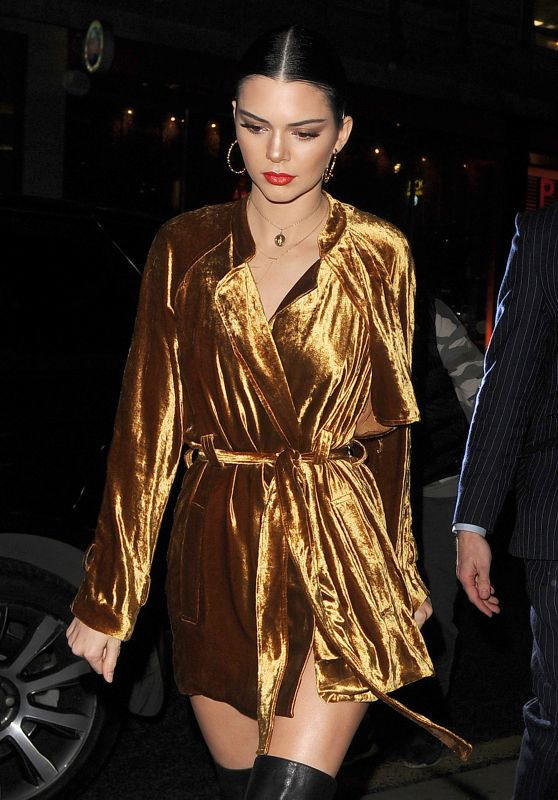Kendall Jenner Night Out Style  - London 2/20/ 2017