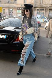 Kendall Jenner - Out and about in Milan, Italy 2/22/ 2017