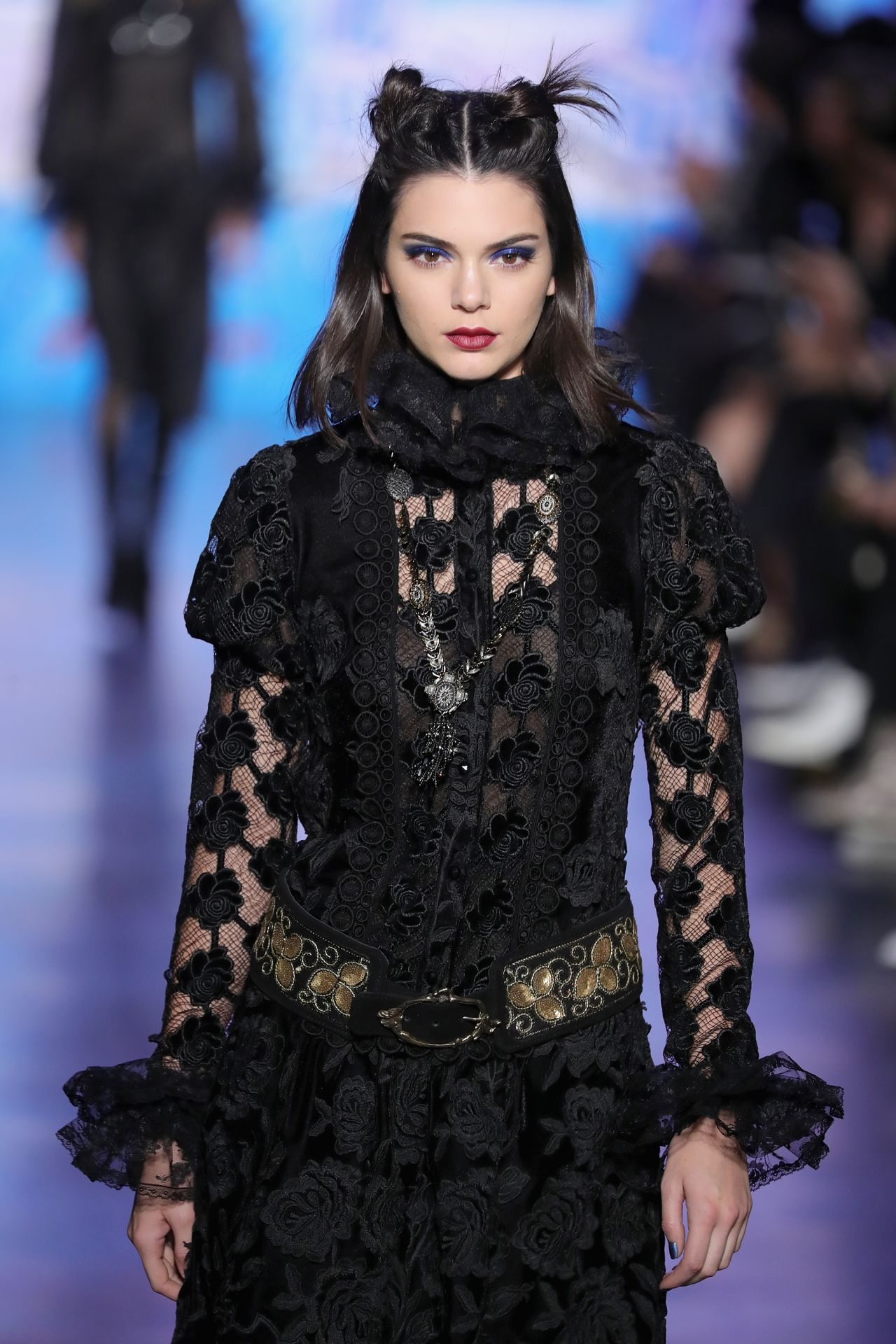 Kendall Jenner Supermodel Runway Walk Anna Sui Fashion Show In Nyc