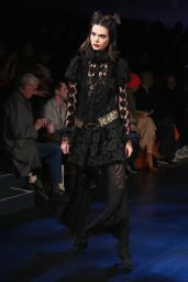 Kendall Jenner Supermodel Runway Walk - Anna Sui Fashion Show in NYC 2/15/ 2017