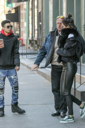 Kendall Jenner Urban Style - After Having Lunch in Soho, New York 2/17/ 2017