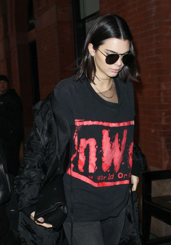 Kendall Jenner Urban Style - Arriving at The Mercer Hotel in Manhattan 2/15/ 2017