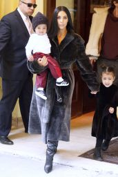 Kim Kardashian - Steps Out in NYC With Her Children 2/1/ 2017