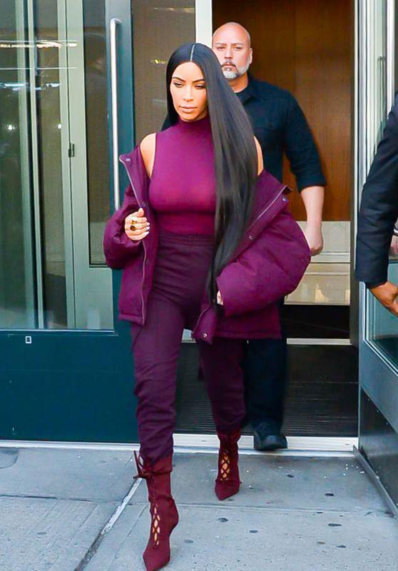 Kim Kardashian Style and Fashion Inspirations - New York City 2/15/ 2017