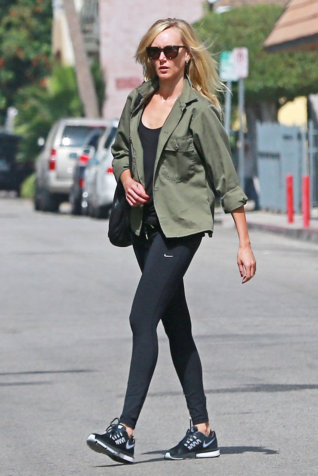 Kimberly Stewart In Spandex Leaving The Gym In Studio