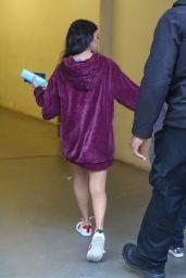 Kourtney Kardashian - Bares Her Legs in an Oversized Hoodie in Calabasas 2/7/ 2017