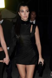 Kourtney Kardashian in a Little Black Dress at Delilah in Hollywood 2/12/ 2017