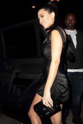 Kourtney Kardashian in a Little Black Dress at Delilah in Hollywood 2/12/ 2017