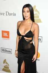 Kourtney Kardashian on Red Carpet – Clive Davis Pre-Grammy 2017 Party in Beverly Hills