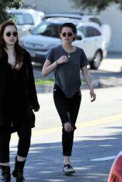 Kristen Stewart Street Style - Out in Los Angeles 2/14/ 2017