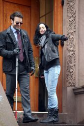 Krysten Ritter - On the Set of Marvel