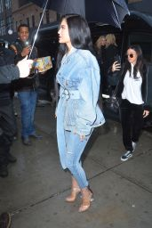 Kylie Jenner in All Jean Ensemble - Out in New York City 2/12/ 2017