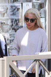 Lady Gaga in Tights - Out in Los Angeles, CA 2/25/ 2017