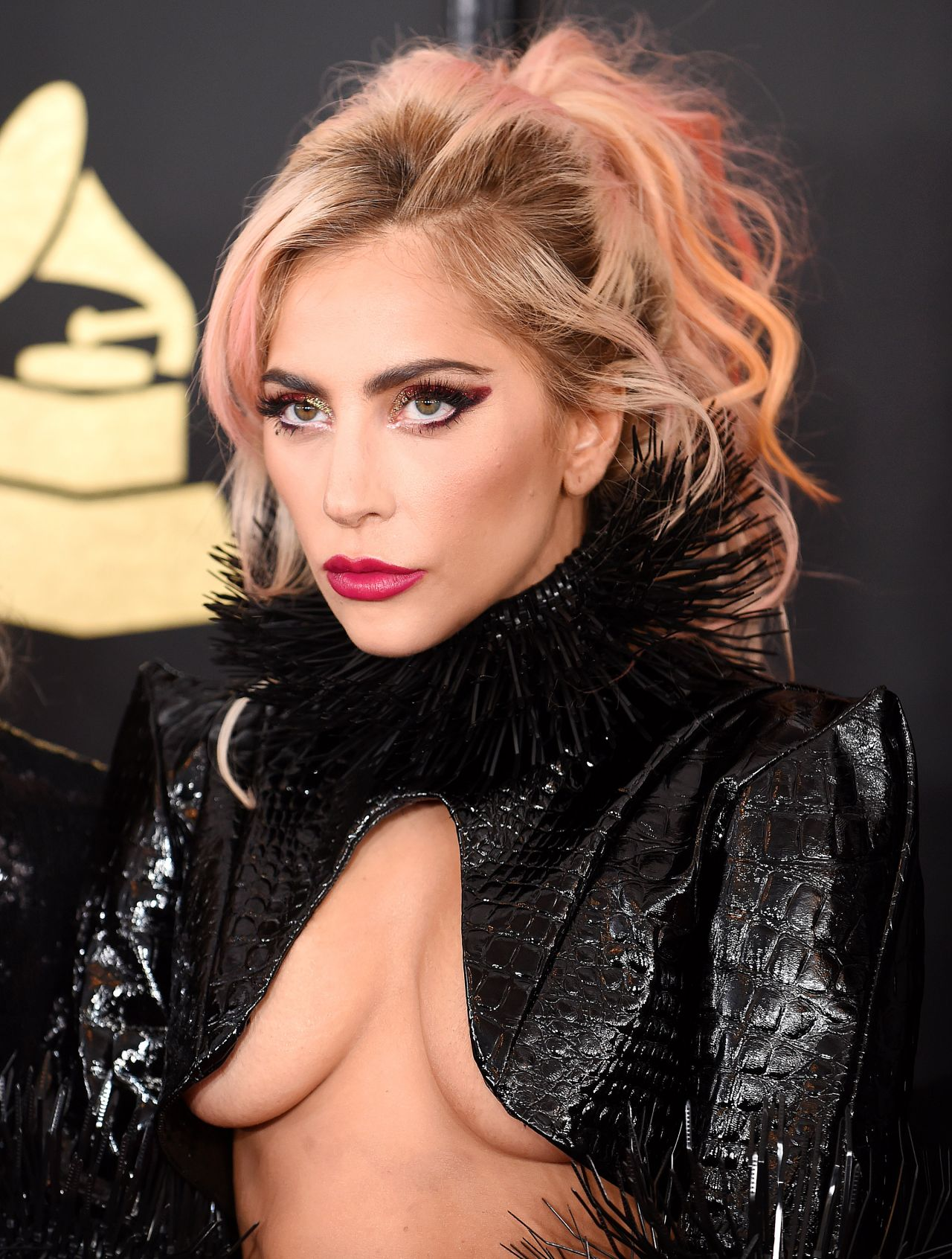 Lady Gaga on Red Carpet – GRAMMY Awards in Los Angeles 2 ...