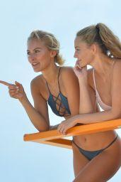 Lauren Ashley and Selena Weber in Bikini - Miami Beach 2/6/ 2017