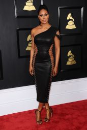 Laverne Cox on Red Carpet – GRAMMY Awards in Los Angeles 2/12/ 2017