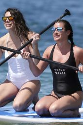 Lea Michele in Swimsuit at a Beach in Hawaii 2/22/ 2017