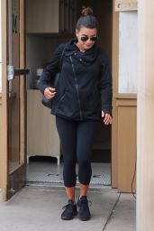Lea Michele - Leaving M Cafe in Los Angeles 2/27/ 2017