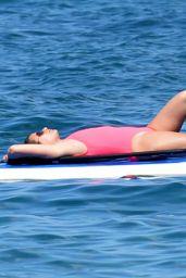 Lea Michele Paddle Boards in Hawaii 2/23/ 2017
