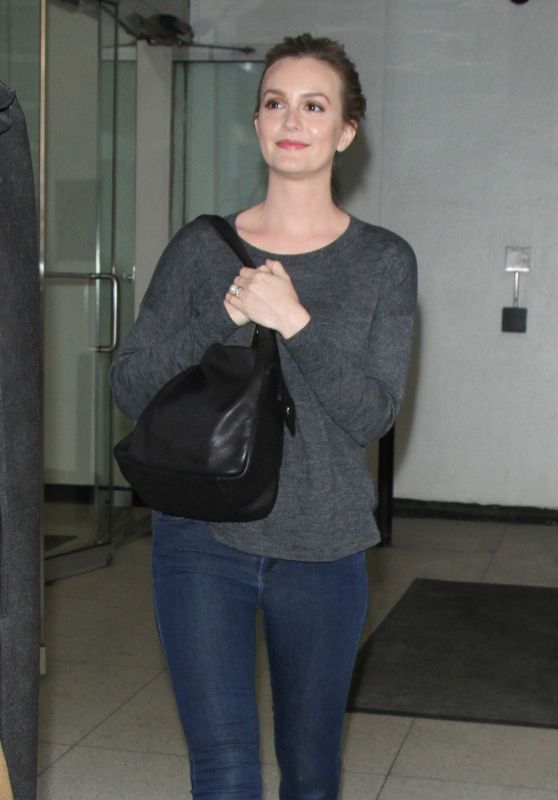 Leighton Meester Arriving to Appear on