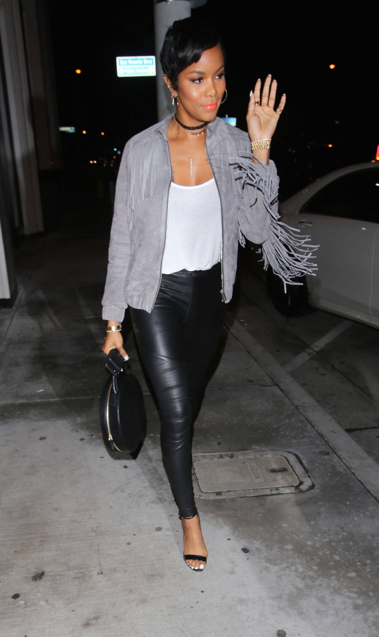 Letoya Luckett In Leather Catch La In West Hollywood 2