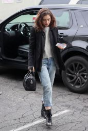 Lily Collins Casual Style - Grabs a Solo Lunch in Los Angeles 2/20/ 2017