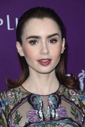 Lily Collins - Costume Desingers Guild Awards in Beverly Hills 2/21/ 2017