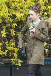 Lily Collins - Heading to The Massage Place in West Hollywood 2/19/ 2017