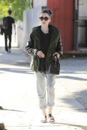 Lily Collins - Heading to the Salon in Beverly Hills 2/12/ 2017