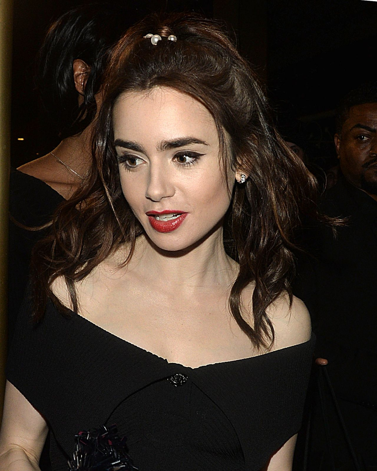 Lily Collins - Leaving...