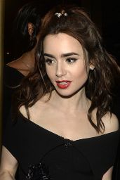 Lily Collins - Leaving The Chanel and Charles Finch Pre-Oscar Party in Beverly Hills 2/26/ 2017