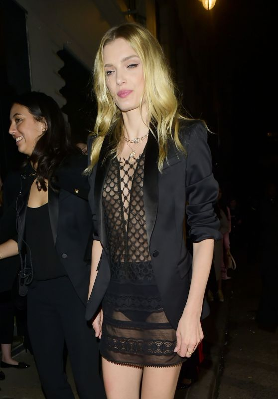 Lily Donaldson at London Fashion Week - Burberry Show Afterparty 2/20/ 2017