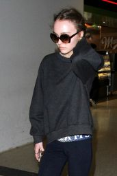 Lily-Rose Depp - Arriving at Los Angeles International Airport 2/1/ 2017